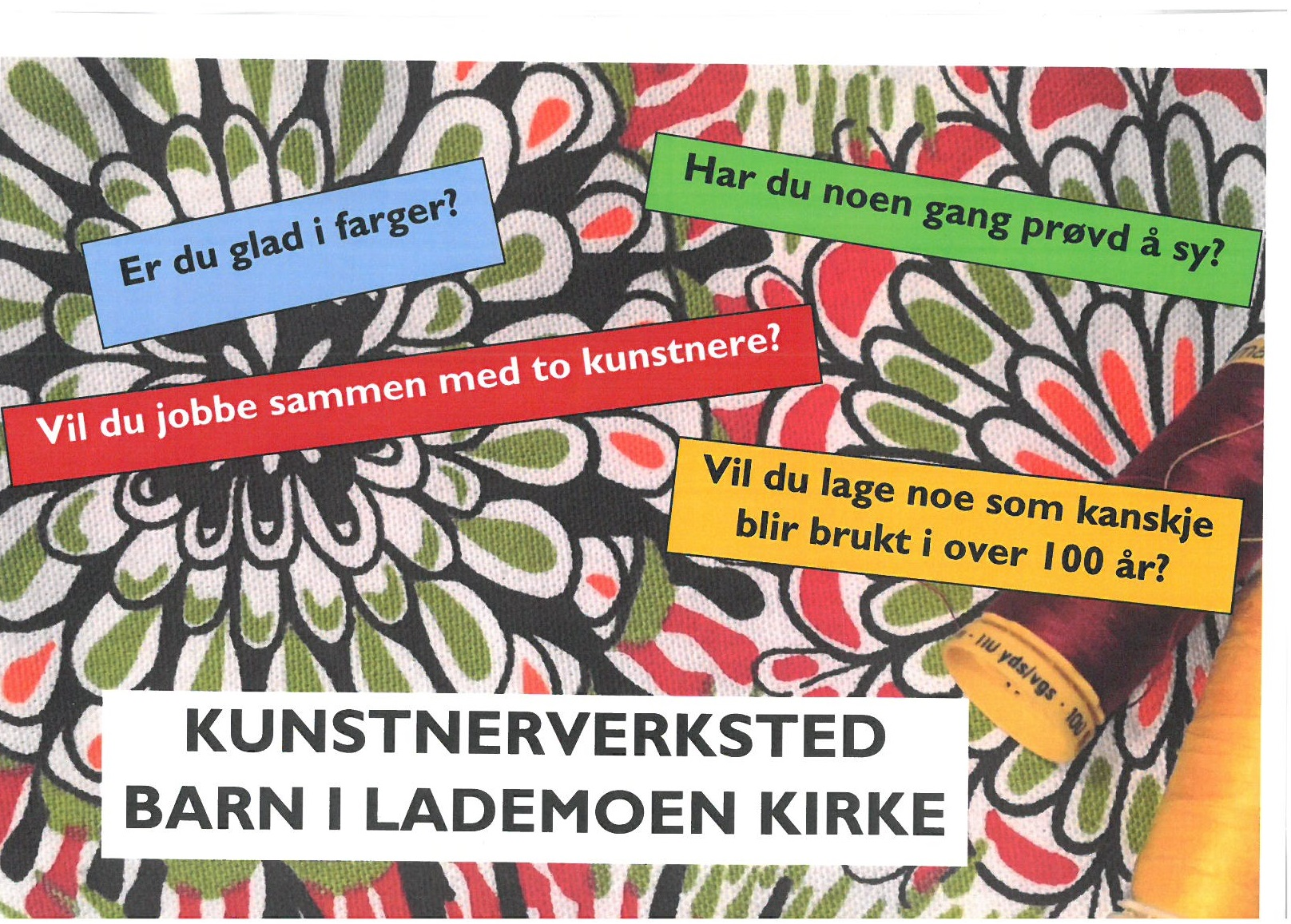 Kunstverksted for barn i Lademoen kirke