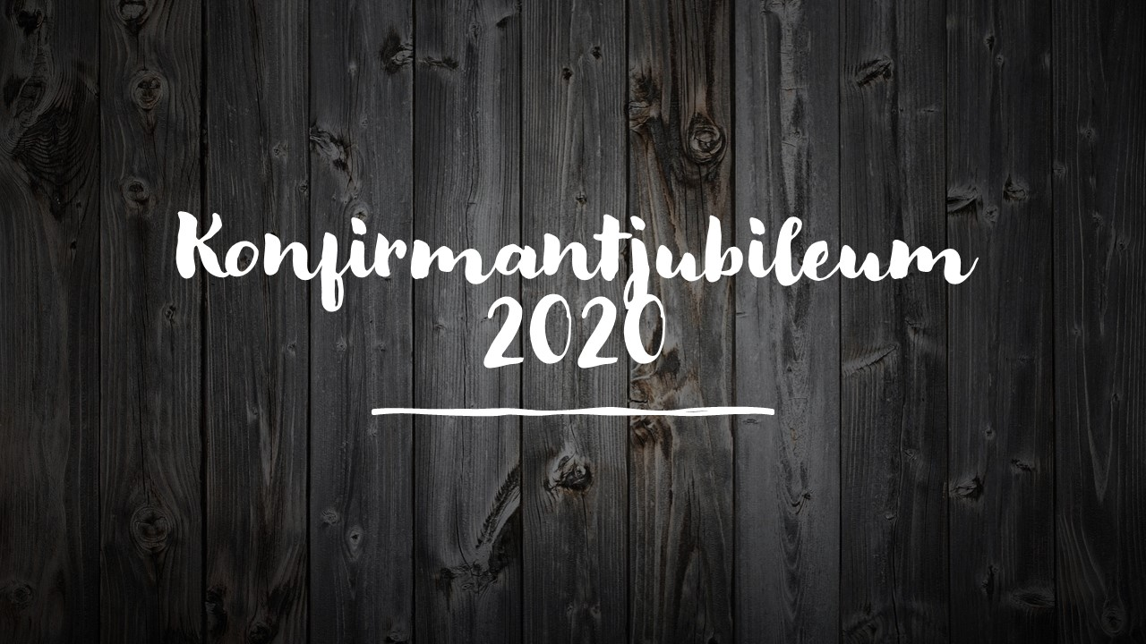 Konfirmantjubileum 2020