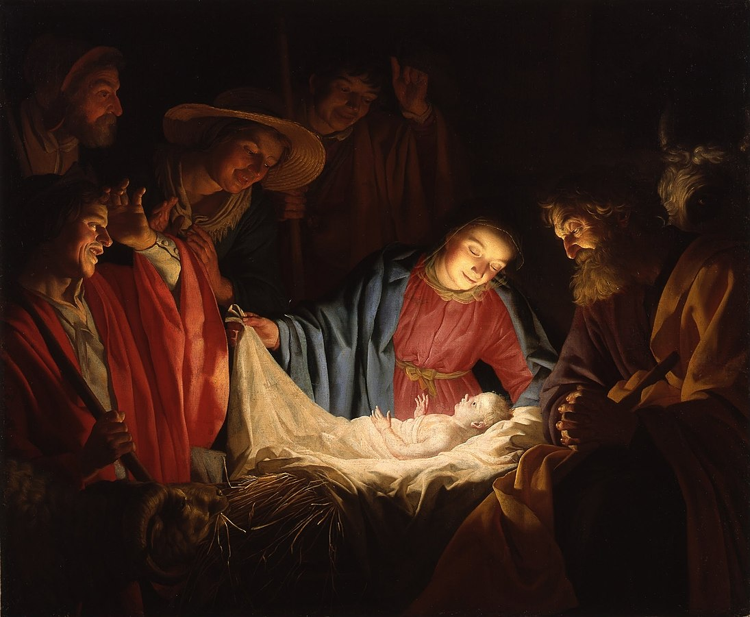 "Illustrasjonsfoto: ""Adoration of the Shepherds"" (1622) av Gerard van Honthorst"