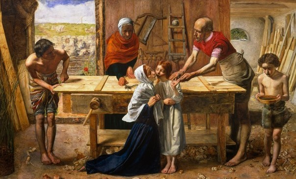 Christ in the House of His Parents ('The Carpenter's Shop') 1849-50; Sir John Everett Millais, Bt 1829-1896; Tate, Purchased with assistance from the Art Fund and various subscribers 1921; Photo: © Tate, London. 2017