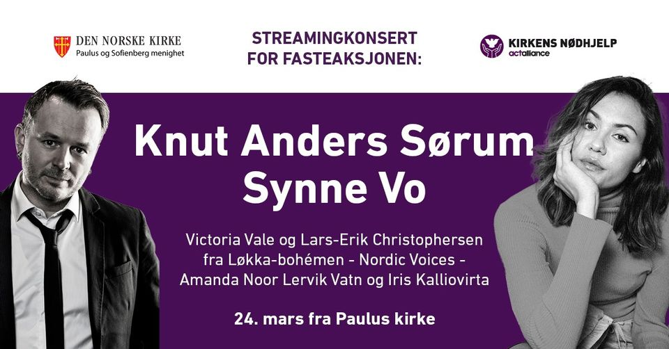Streamingkonsert for Fasteaksjonen
